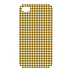 Golden Yellow Tablecloth Plaid Line Apple Iphone 4/4s Hardshell Case