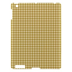 Golden Yellow Tablecloth Plaid Line Apple Ipad 3/4 Hardshell Case