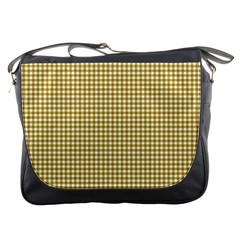 Golden Yellow Tablecloth Plaid Line Messenger Bags