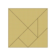Golden Yellow Tablecloth Plaid Line Acrylic Tangram Puzzle (4  x 4 )