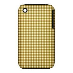 Golden Yellow Tablecloth Plaid Line iPhone 3S/3GS