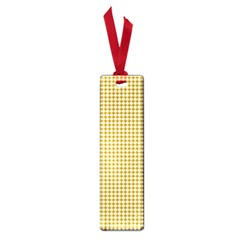 Golden Yellow Tablecloth Plaid Line Small Book Marks