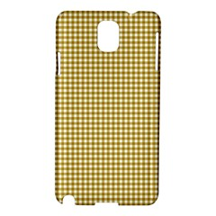 Golden Yellow Tablecloth Plaid Line Samsung Galaxy Note 3 N9005 Hardshell Case