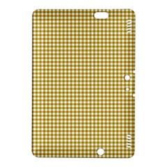 Golden Yellow Tablecloth Plaid Line Kindle Fire HDX 8.9  Hardshell Case