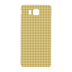 Golden Yellow Tablecloth Plaid Line Samsung Galaxy Alpha Hardshell Back Case