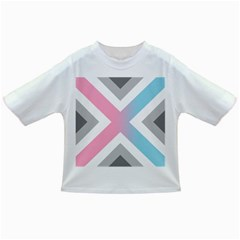 Flag X Blue Pink Grey White Chevron Infant/Toddler T-Shirts