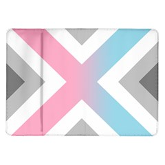Flag X Blue Pink Grey White Chevron Samsung Galaxy Tab 10 1  P7500 Flip Case