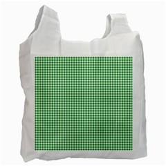 Green Tablecloth Plaid Line Recycle Bag (Two Side)