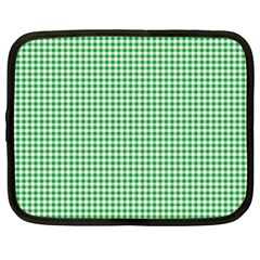 Green Tablecloth Plaid Line Netbook Case (XL)