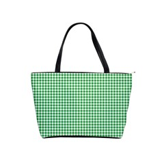 Green Tablecloth Plaid Line Shoulder Handbags