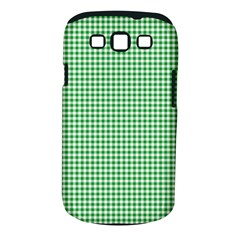 Green Tablecloth Plaid Line Samsung Galaxy S III Classic Hardshell Case (PC+Silicone)