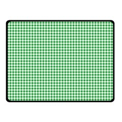 Green Tablecloth Plaid Line Double Sided Fleece Blanket (Small)