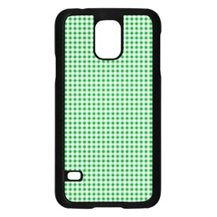 Green Tablecloth Plaid Line Samsung Galaxy S5 Case (Black)