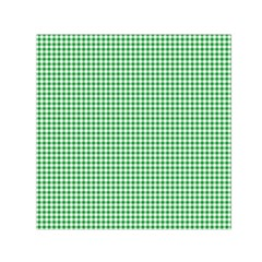 Green Tablecloth Plaid Line Small Satin Scarf (Square)