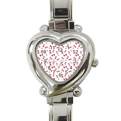 Hour Glass Pattern Red White Triangle Heart Italian Charm Watch