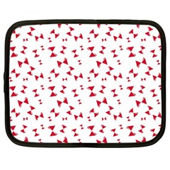 Hour Glass Pattern Red White Triangle Netbook Case (large)