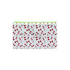 Hour Glass Pattern Red White Triangle Cosmetic Bag (XS)