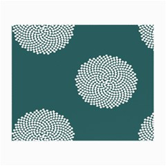 Green Circle Floral Flower Blue White Small Glasses Cloth (2-Side)