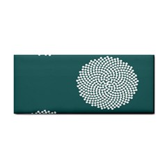 Green Circle Floral Flower Blue White Cosmetic Storage Cases