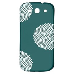 Green Circle Floral Flower Blue White Samsung Galaxy S3 S Iii Classic Hardshell Back Case