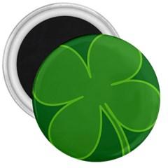 Leaf Clover Green 3  Magnets