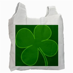 Leaf Clover Green Recycle Bag (two Side)