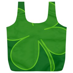 Leaf Clover Green Full Print Recycle Bags (L)