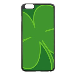 Leaf Clover Green Apple iPhone 6 Plus/6S Plus Black Enamel Case