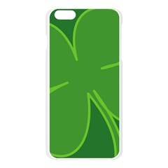 Leaf Clover Green Apple Seamless iPhone 6 Plus/6S Plus Case (Transparent)