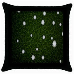Graphics Green Leaves Star White Floral Sunflower Throw Pillow Case (Black)
