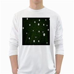 Graphics Green Leaves Star White Floral Sunflower White Long Sleeve T Shirts