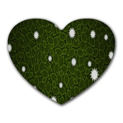 Graphics Green Leaves Star White Floral Sunflower Heart Mousepads