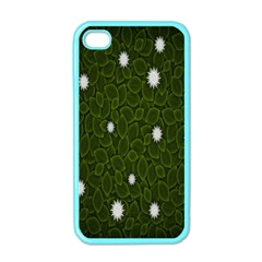 Graphics Green Leaves Star White Floral Sunflower Apple Iphone 4 Case (color)