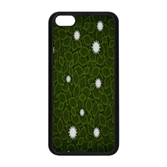 Graphics Green Leaves Star White Floral Sunflower Apple iPhone 5C Seamless Case (Black)