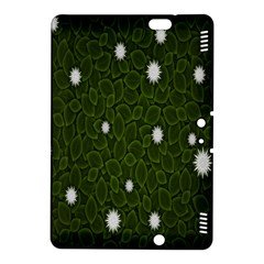 Graphics Green Leaves Star White Floral Sunflower Kindle Fire HDX 8.9  Hardshell Case