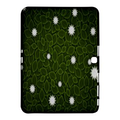 Graphics Green Leaves Star White Floral Sunflower Samsung Galaxy Tab 4 (10.1 ) Hardshell Case