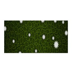 Graphics Green Leaves Star White Floral Sunflower Satin Wrap
