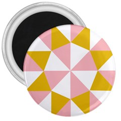 Learning Connection Circle Triangle Pink White Orange 3  Magnets
