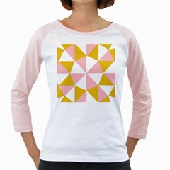 Learning Connection Circle Triangle Pink White Orange Girly Raglans