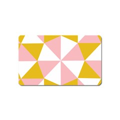 Learning Connection Circle Triangle Pink White Orange Magnet (name Card)