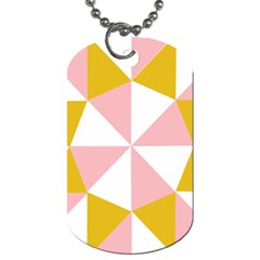 Learning Connection Circle Triangle Pink White Orange Dog Tag (two Sides)