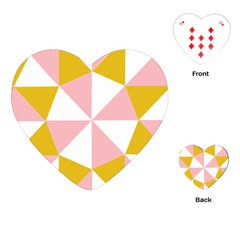 Learning Connection Circle Triangle Pink White Orange Playing Cards (Heart)