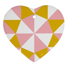 Learning Connection Circle Triangle Pink White Orange Heart Ornament (two Sides)