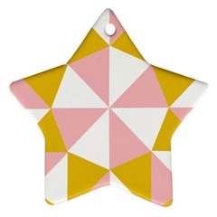 Learning Connection Circle Triangle Pink White Orange Star Ornament (Two Sides)