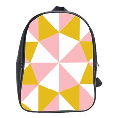 Learning Connection Circle Triangle Pink White Orange School Bags(large)