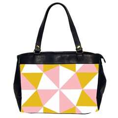 Learning Connection Circle Triangle Pink White Orange Office Handbags (2 Sides)