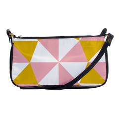 Learning Connection Circle Triangle Pink White Orange Shoulder Clutch Bags
