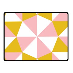 Learning Connection Circle Triangle Pink White Orange Fleece Blanket (small)