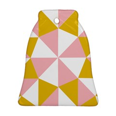 Learning Connection Circle Triangle Pink White Orange Ornament (Bell)
