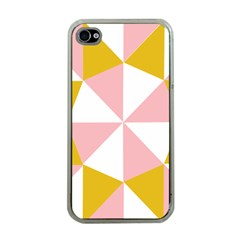 Learning Connection Circle Triangle Pink White Orange Apple iPhone 4 Case (Clear)